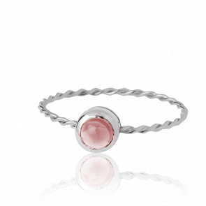 Bague In the Air Or Blanc 9K et Tourmaline Rose