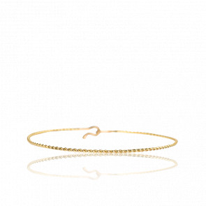 Bracelet Jonc Torsadé Or Jaune 9K - Milligram