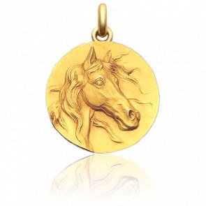 Médaille Le Cheval Or Jaune 18K