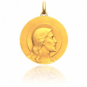 Médaille Christ de Lasserre Or Jaune 18K
