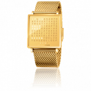Montre Qlocktwo W Golden Words