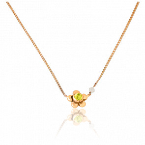 Collier Daisy Or Jaune 9K