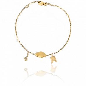 Bracelet Chaînette L'air De Rien 9K, Cocoon & Diamant