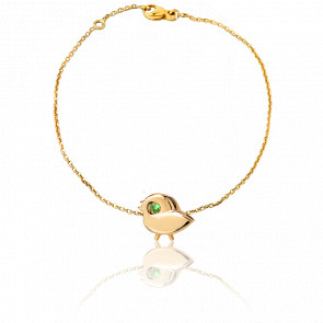 Bracelet Chaînette Piaf Or Jaune 9K - Milligram