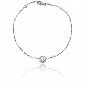 Bracelet Chaînette Grand Amour Or Blanc 9K & Diamant