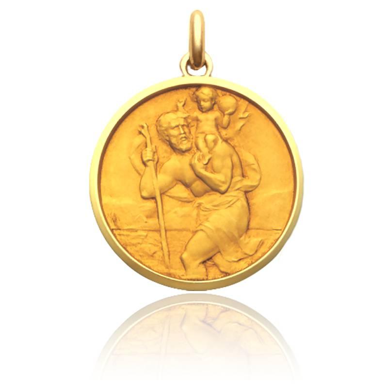 Médaille Saint Christophe de Roisne Or Jaune 18K