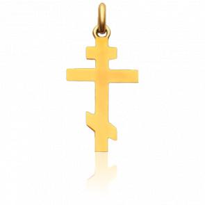 Croix Orthodoxe Or Jaune 18K