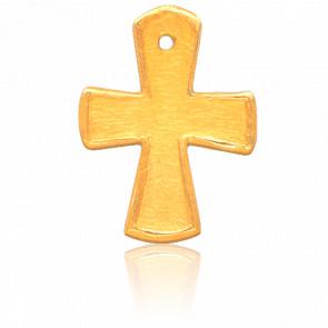 Croix Evasée Or Jaune 18K