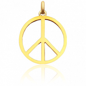 Pendentif peace and love or jaune