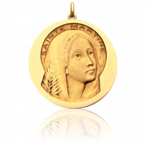 Médaille Sainte Martine Or Jaune 18K