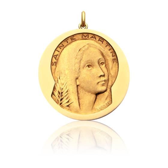 Médaille Sainte Martine Or Jaune 18K