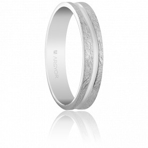 Alliance Carmella 4 mm Or Blanc 18K