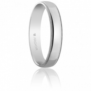 Alliance Graziella Or Blanc 18K