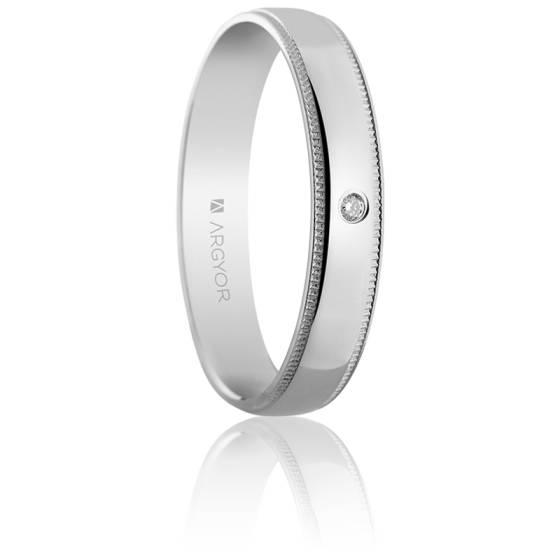 Alliance Graziella 4 mm Or Blanc & Diamant