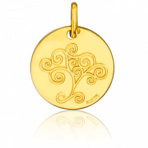 Médaille Ronde Arbre de Vie Or Jaune 18K