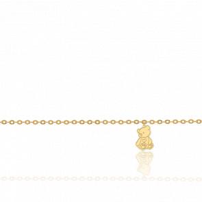 Bracelet Breloque Petit Ourson Or Jaune 18K