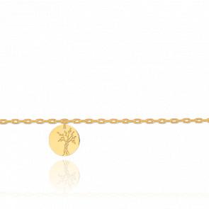Bracelet Breloque Arbre de Vie Or Jaune 18K