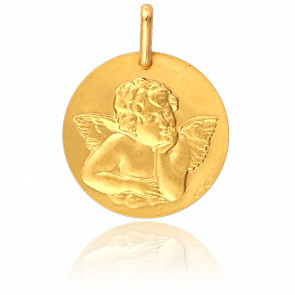 Médaille Ronde Ange de Raphaël Or Jaune 18K