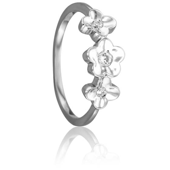 bague trois fleurs or blanc 18k diamants juweel ocarat. Black Bedroom Furniture Sets. Home Design Ideas