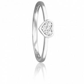 Bague Coeur Labréole Or Blanc 18K & Diamants