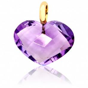 Pendentif Coeur Violet - Bellon