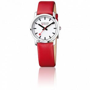Montre Simply Elegant Rouge Acier Poli 36 mm