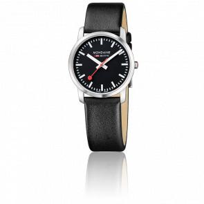 Montre Simply Elegant Noire Acier brossé 36 mm