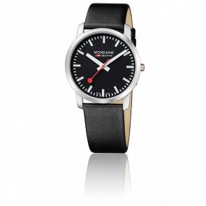 Montre Simply Elegant Noire poli 41 mm