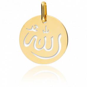 Médaille Allah Ajourée Or Jaune 18K