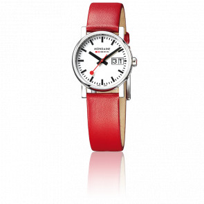 Montre Evo Big Date Ladies Red Polished 30 mm