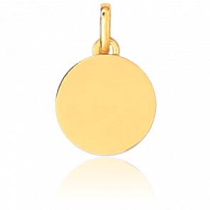Médaille A Graver Ronde PM Or Jaune 18K
