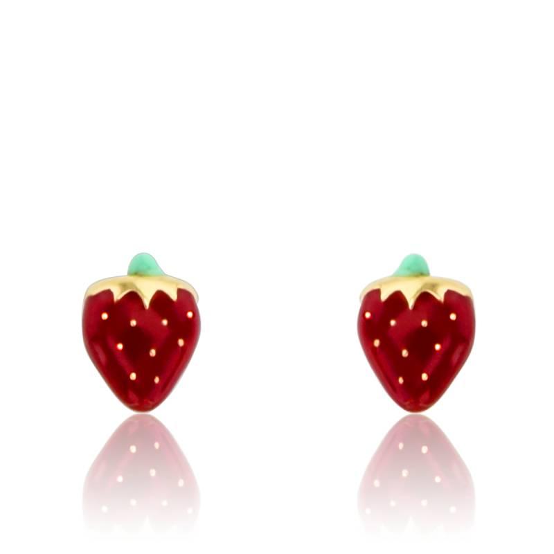 boucles d 39 oreilles fraises or jaune 18 carats ocarat. Black Bedroom Furniture Sets. Home Design Ideas