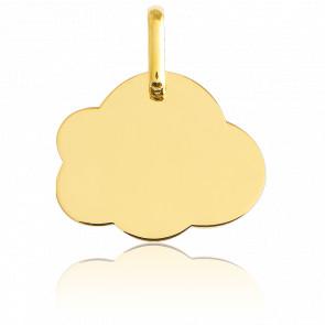 Médaille A Graver Nuage PM Or Jaune 18K