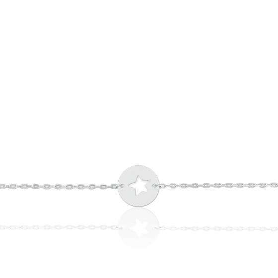 Bracelet Etoile Or Blanc 18K
