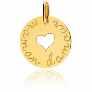 """Médaille Ajouré """"Maman d'Amour"""" Or Jaune 18K"""