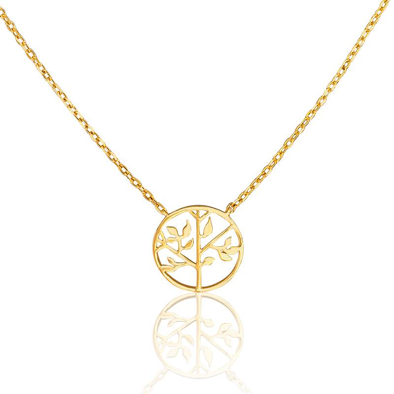 Collier arbre de vie 12 mm dor na ades ocarat - Arbre a collier ...