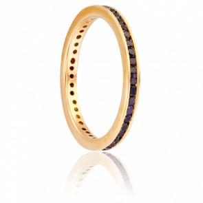Alliance Mayenne Or Jaune 18K & Diamants Noirs 2,3 mm