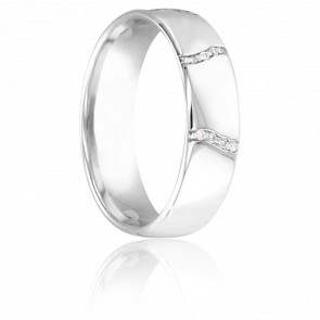 Alliance Vallière Or Blanc 9K & Diamants 5,5 mm