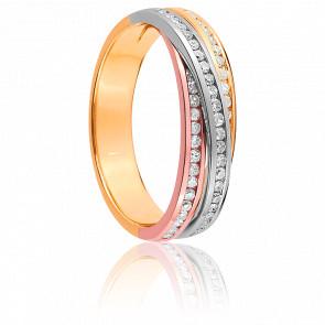 Alliance Iva 3 Ors 18K et Diamants