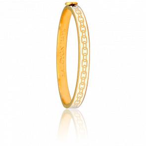 Bracelet Skinny Chain Crème & Doré