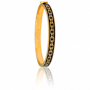 Bracelet Skinny Chain Noir & Doré