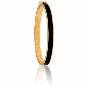 Bracelet Skinny Plain Noir & Doré
