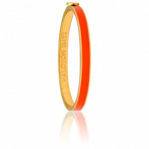 Bracelet Skinny Plain Orange & Doré
