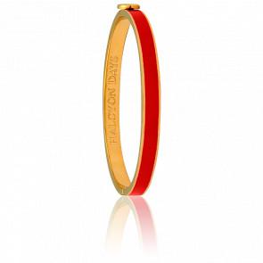 Bracelet Skinny Plain Rouge & Doré