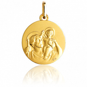 Médaille Saint Christophe Or Jaune 18K - Lucas Lucor