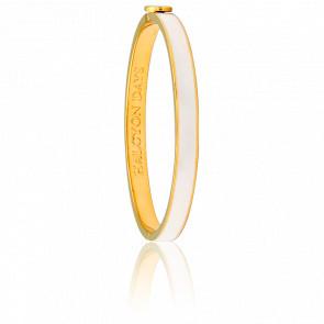 Bracelet Skinny Plain Crème & Doré