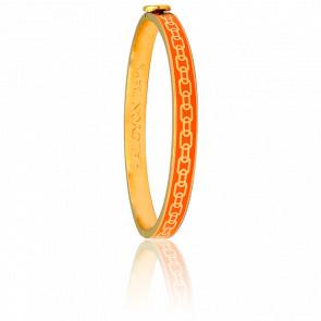 Bracelet Skinny Chain Orange & Doré