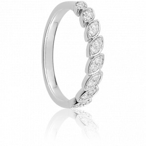Alliance Daget Or Blanc 18K et Diamants