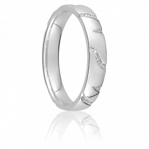 Alliance Noha Or Blanc 18K & Diamants