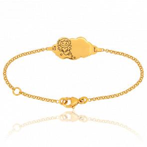 Bracelet Nuage Précieuse Or Jaune 18K
